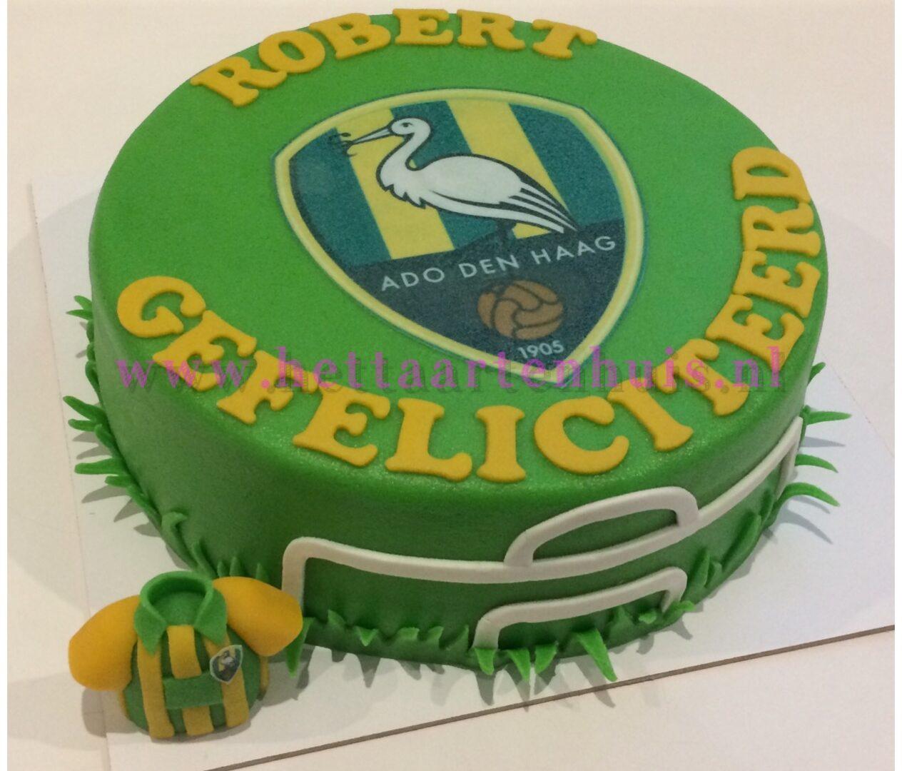 Ado Den Haag logo taart ROBERT