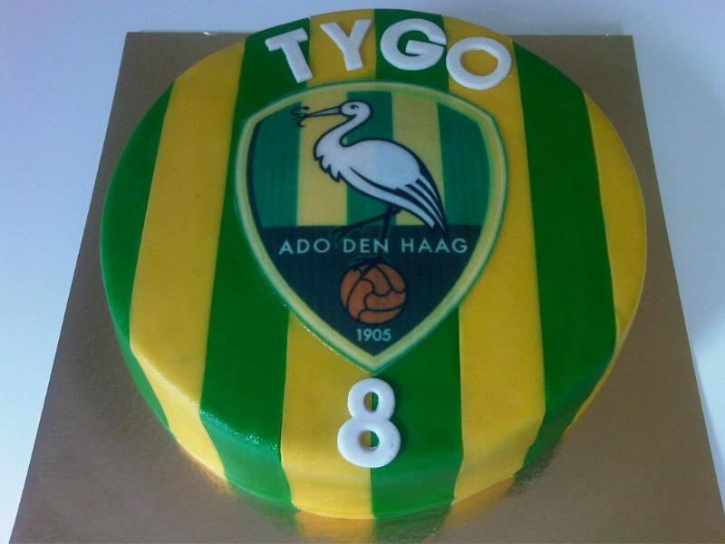 Ado Den Haag logo taart TYGO