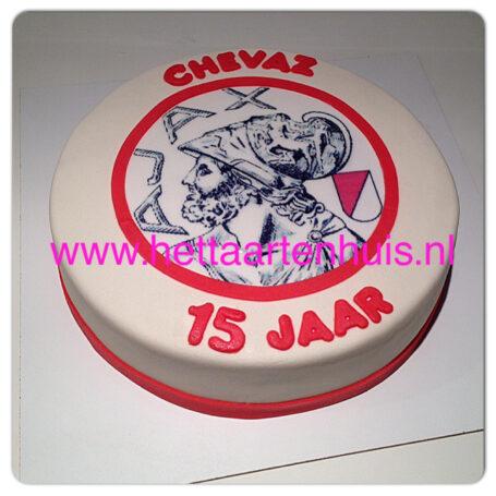 Ajax logo taart CHEVAZ