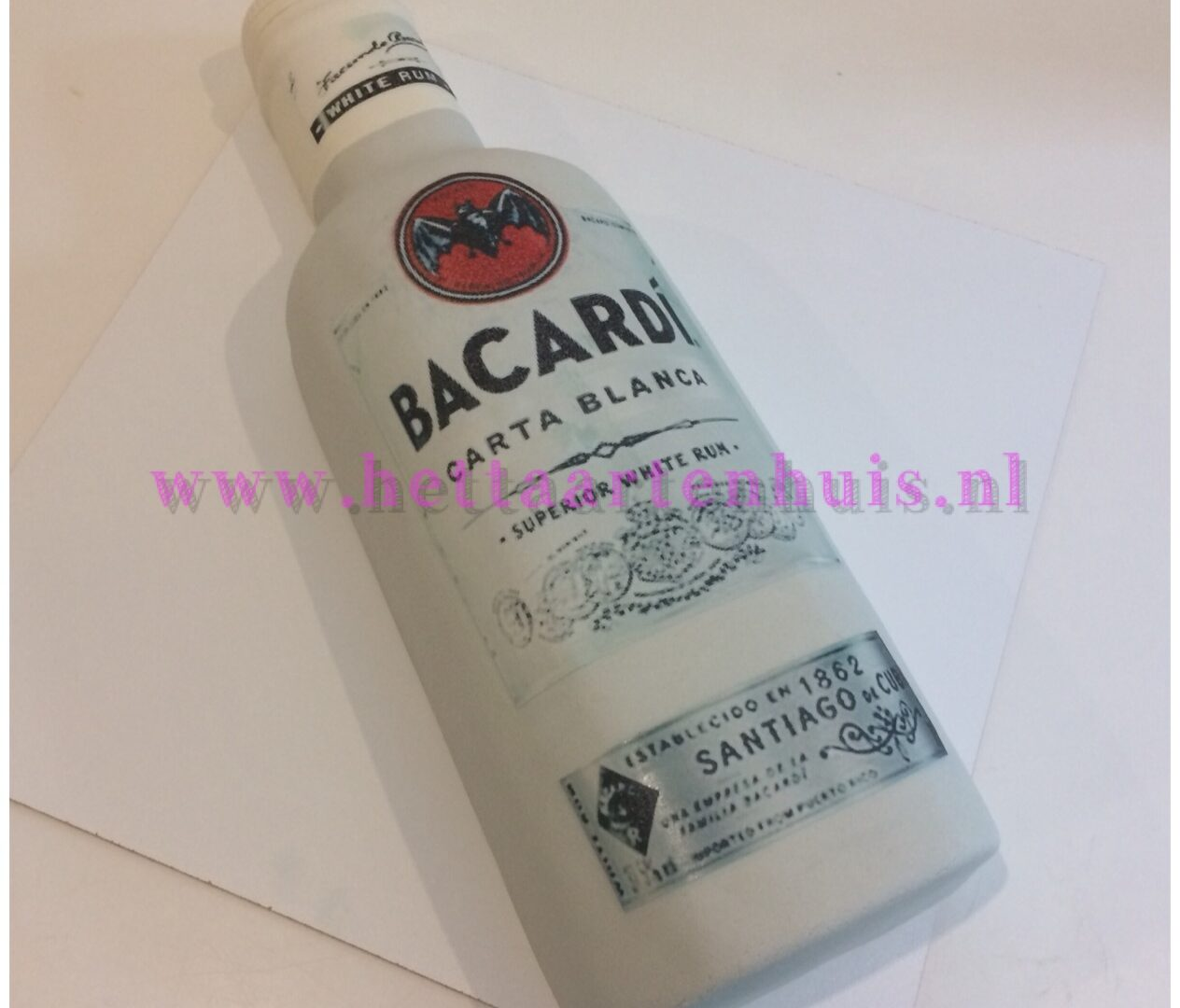 Bacardi fles taart