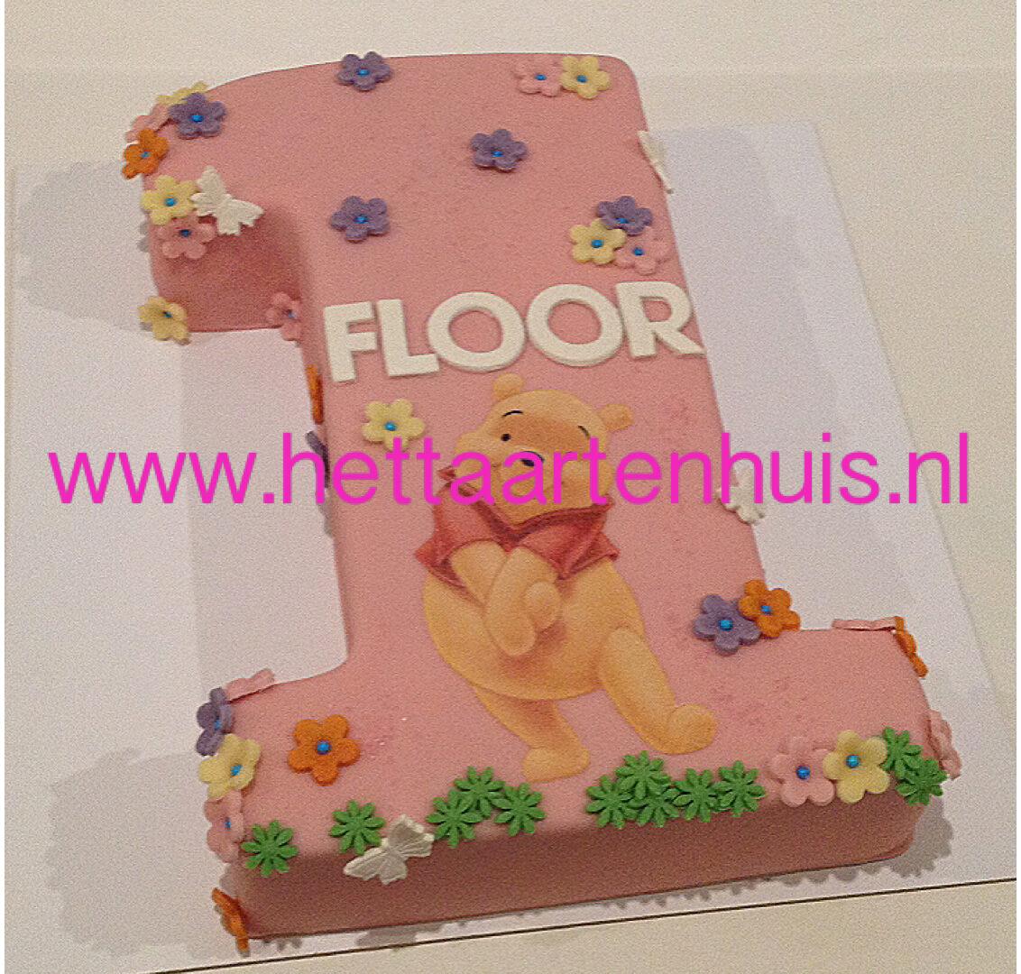 Cijfer taart Winnie de Pooh