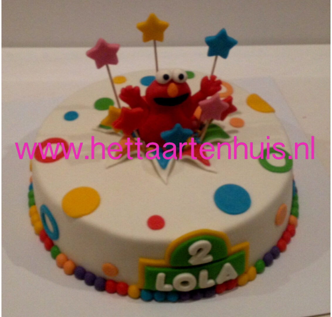 Elmo 3D taart LOLA