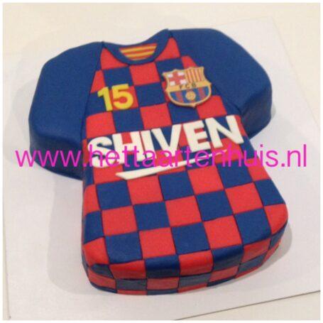 FC Barcelona voetbalshirt taart SHIVEN
