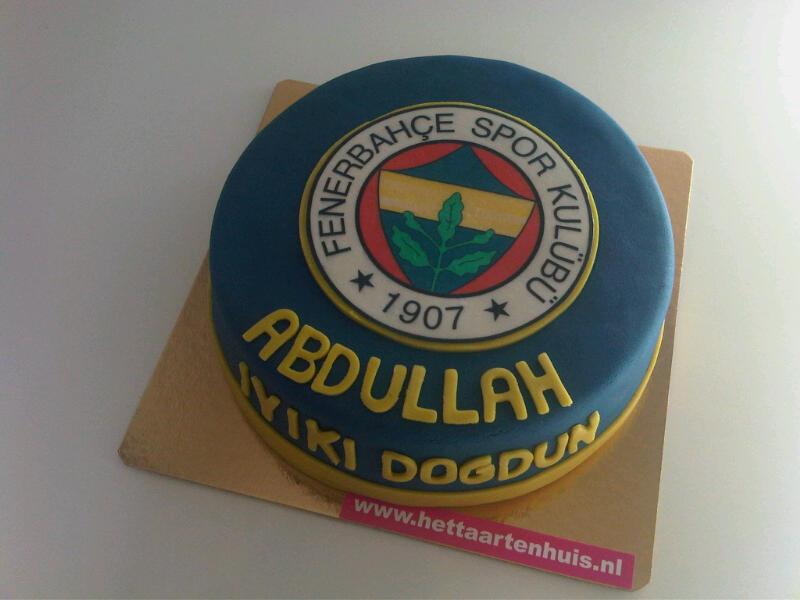 Fenerbahce voetbal logo taart