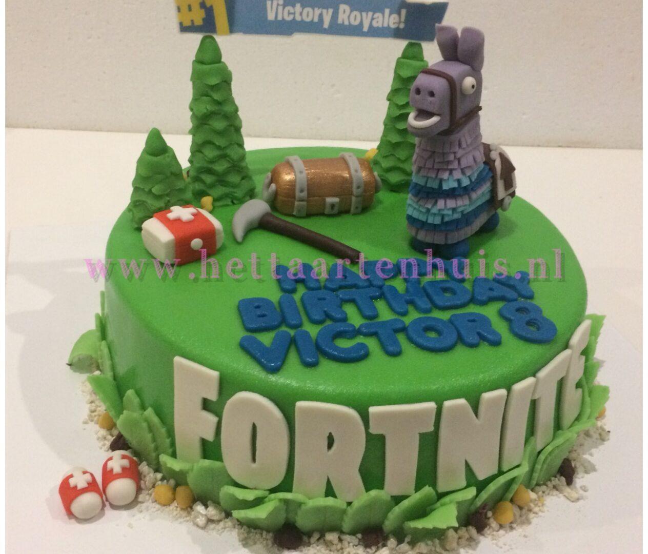 Fortnite VICTOR taart