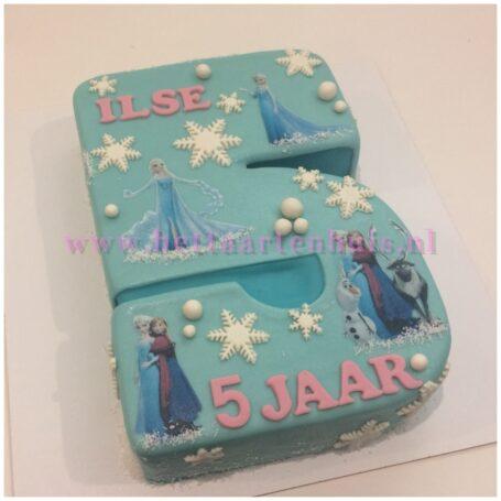 Frozen cijfer taart