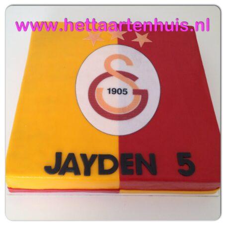 Galatasaray voetbal logo taart JAYDEN