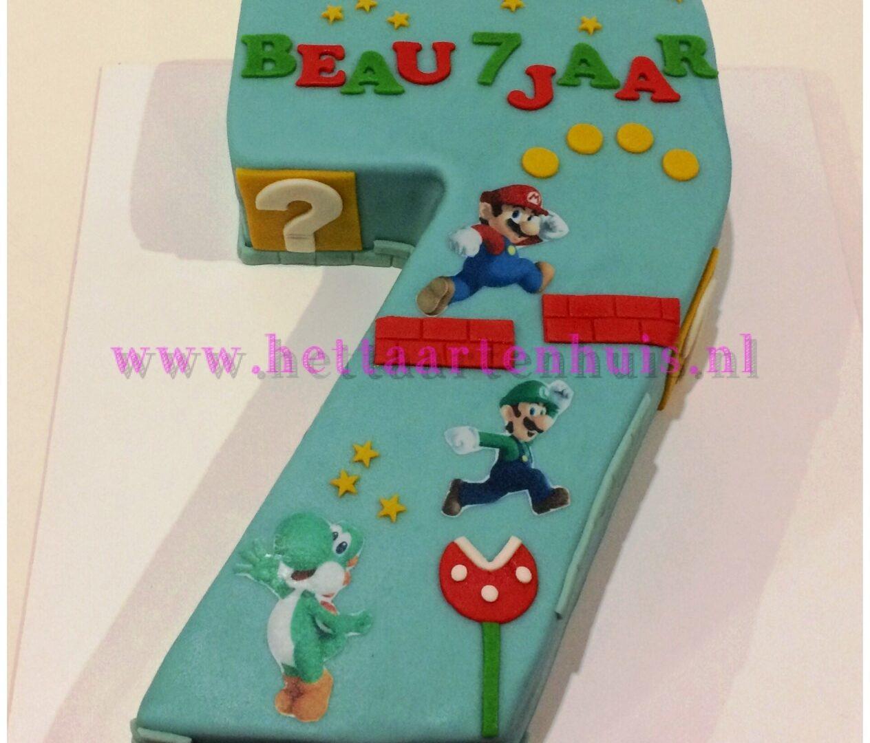 Super Mario cijfer taart BEAU