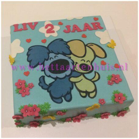 Woezel en Pip taart LIV