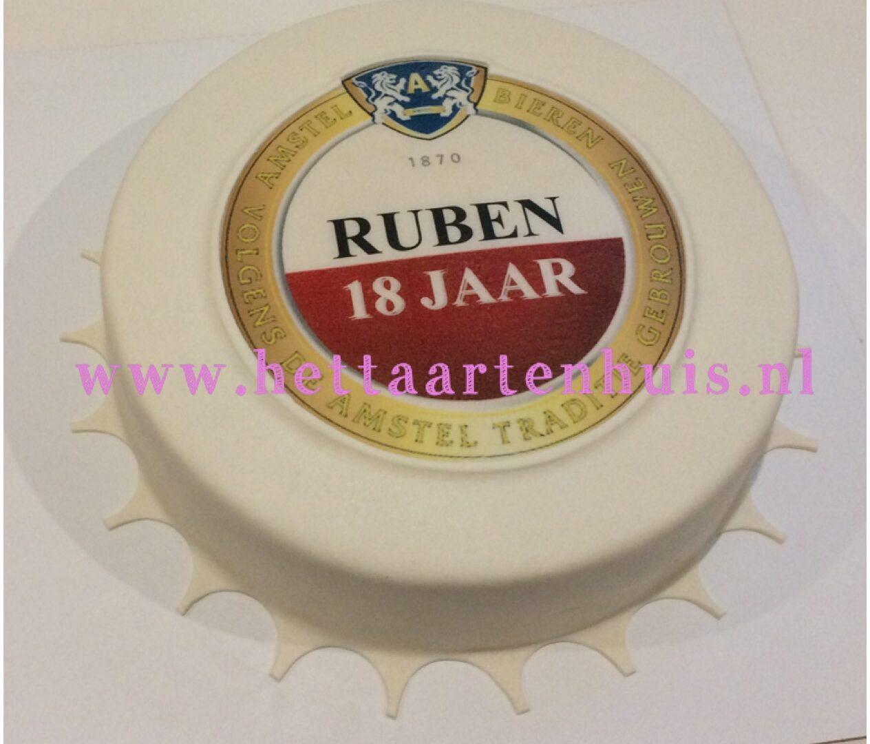 Amstelbier dop taart