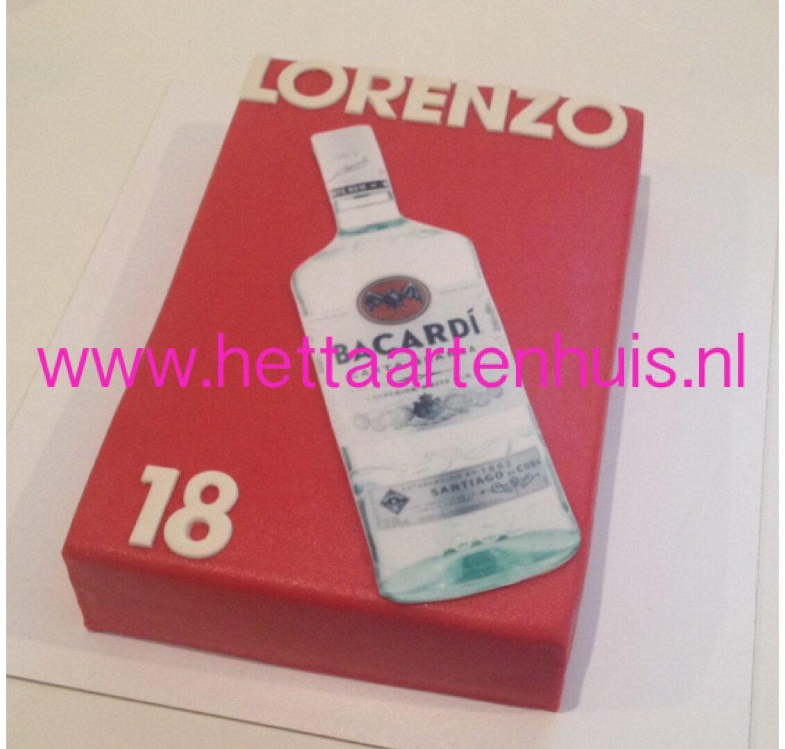 Bacardi fles taart LORENZO