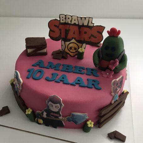 Brawl Stars taart AMBER 2