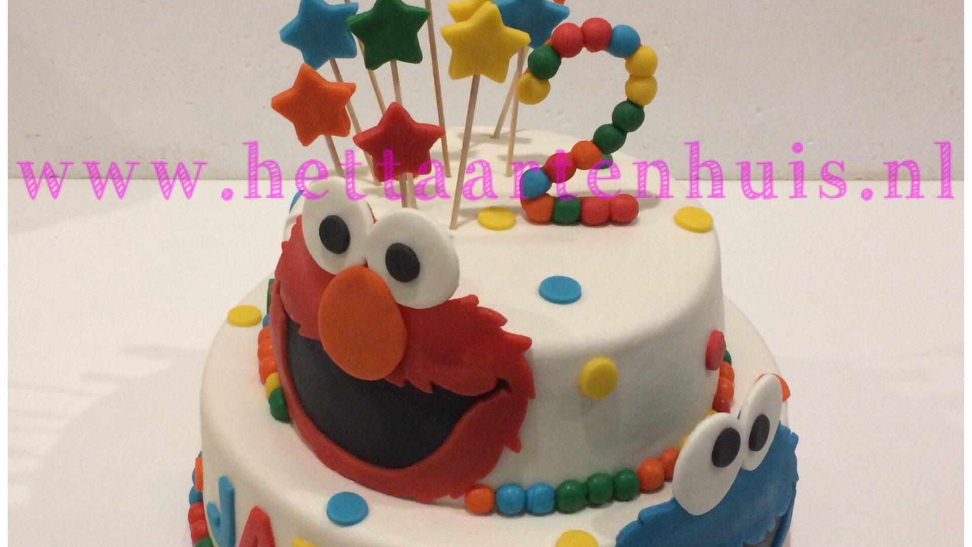 Elmo en Koekiemonster lagentaart JAMES