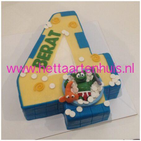 Gummy bear taart cijfer 4