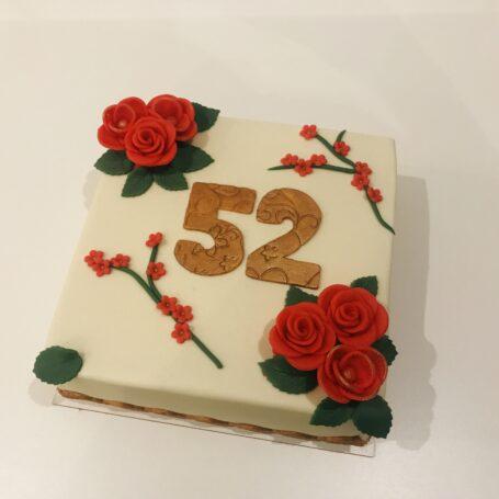 Verjaardagstaart 52 jaar 1