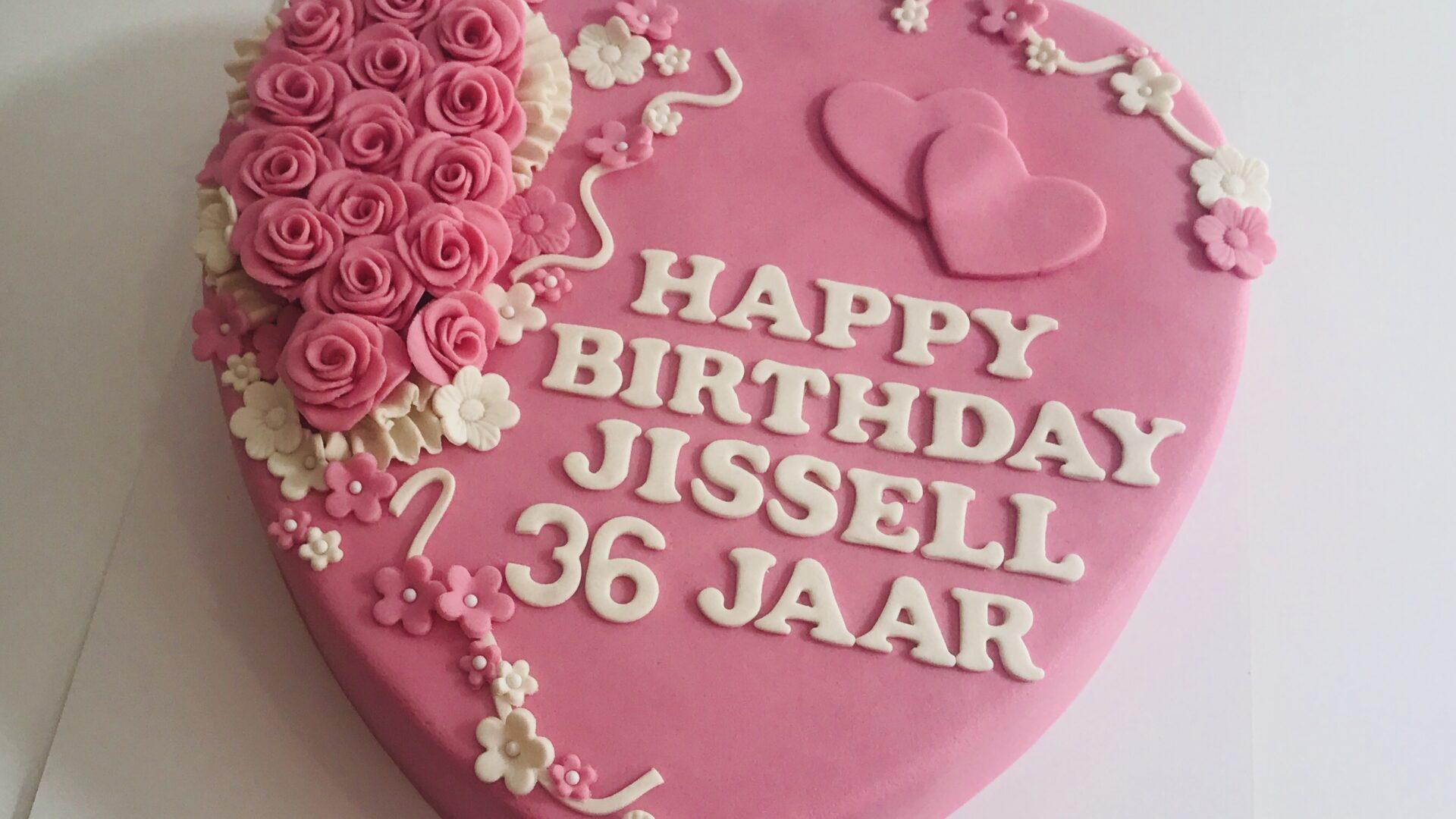 Hart rozen taart JISSELL