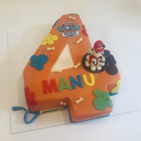 Paw Patrol Marshall cijfer taart