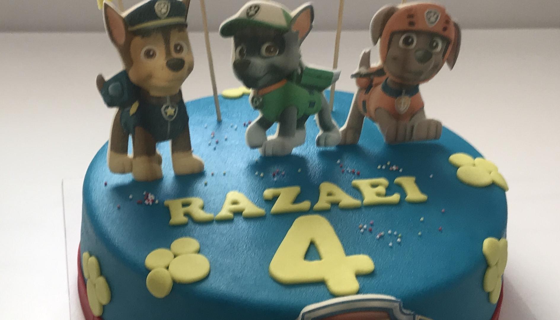 Paw Patrol taart RAZAEI